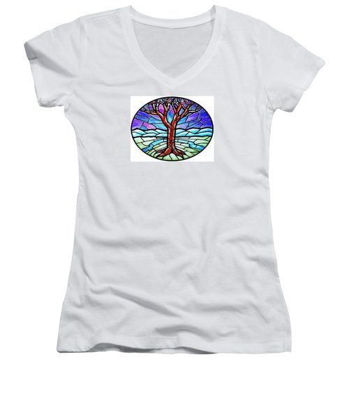 Tree Of Grace - Winter Women's V-Neck (Athletic Fit)