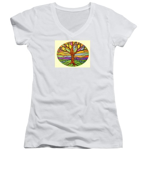 Tree Of Grace 2 Women's V-Neck (Athletic Fit)