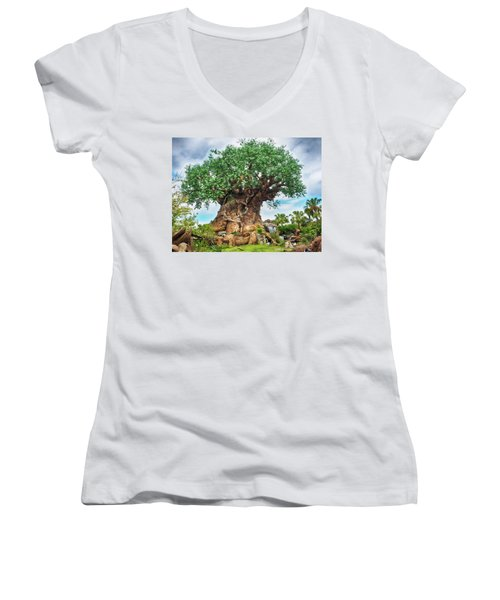 Tree Of Life Women's V-Neck (Athletic Fit)
