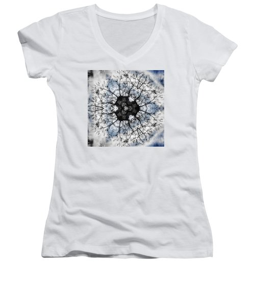 Tree Of Life Women's V-Neck T-Shirt (Junior Cut) by Jorge Ferreira