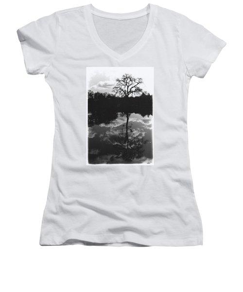 Tree Reflection Sebastopol Ca, Women's V-Neck