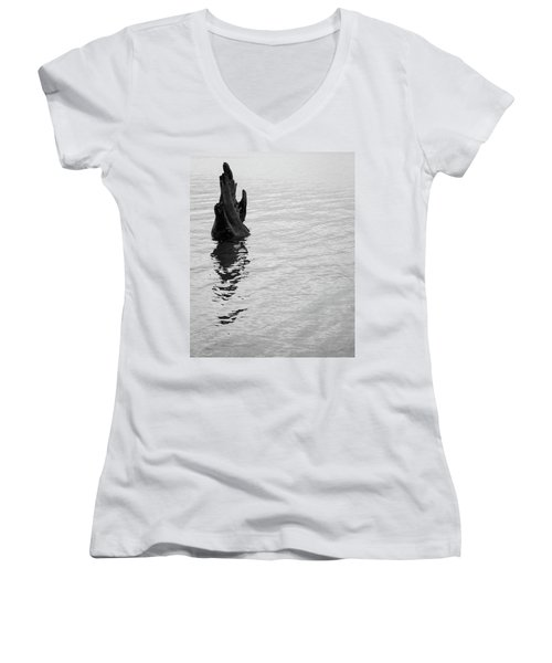 Tree Reflections, Rest In The Water Women's V-Neck