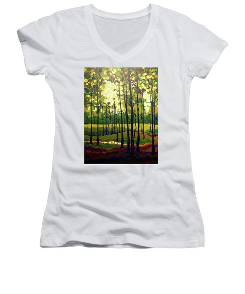 Treecentric Summer Glow Women's V-Neck
