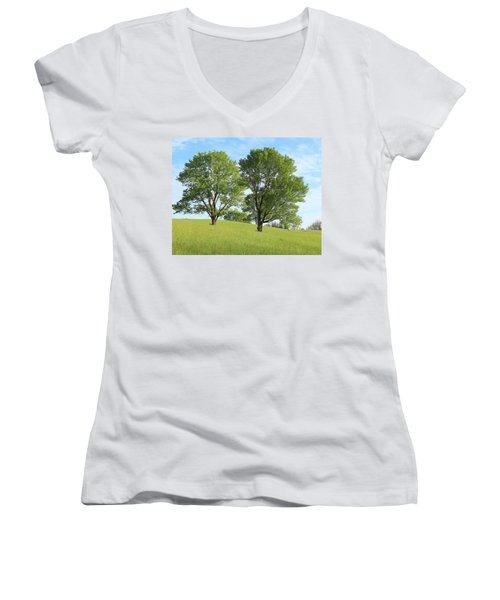 Summer Trees 4 Women's V-Neck