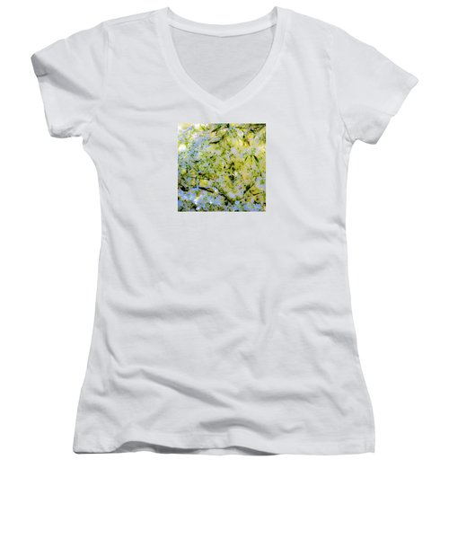 Trees And Leaves Women's V-Neck