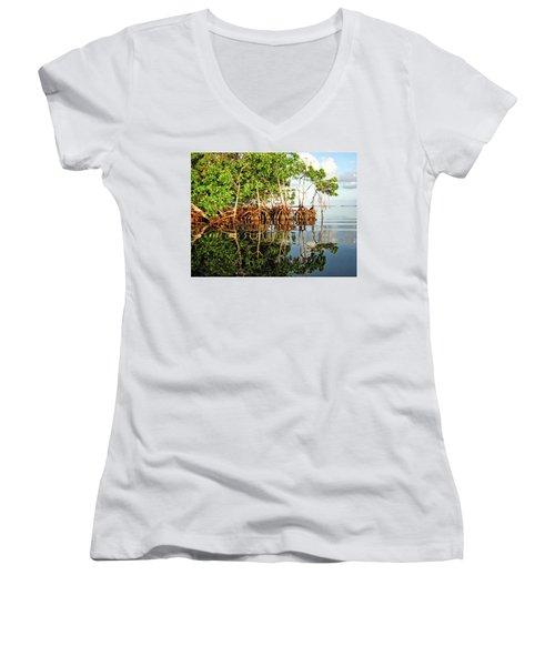 Trees In The Sea Women's V-Neck (Athletic Fit)