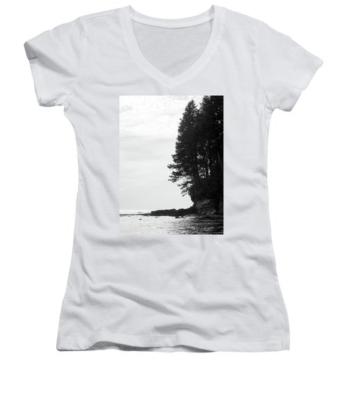 Trees Over The Ocean Women's V-Neck