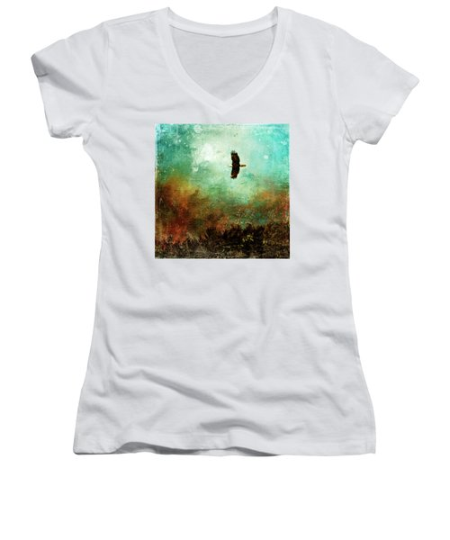 Treetop Eagle Flight Women's V-Neck