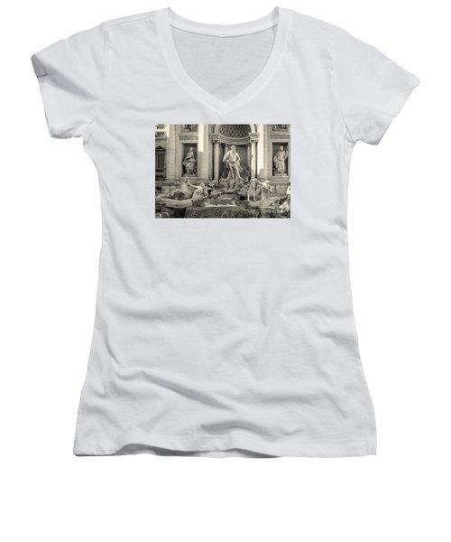 Trevi Fountain Women's V-Neck