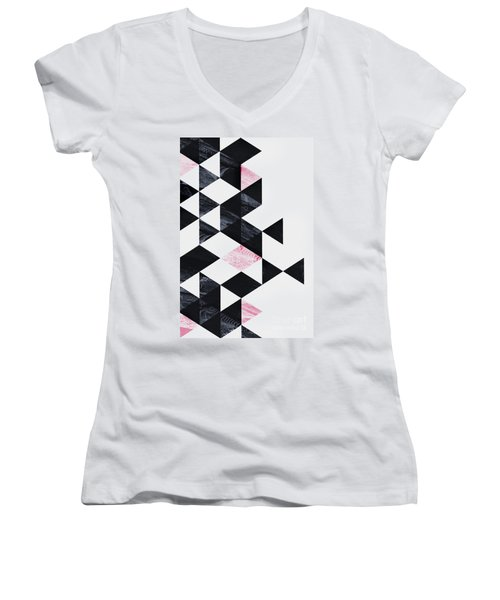 Triangle Geometry Women's V-Neck