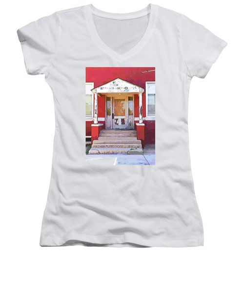 Women's V-Neck T-Shirt (Junior Cut) featuring the photograph Trinity Or Trinidad by Cynthia Powell