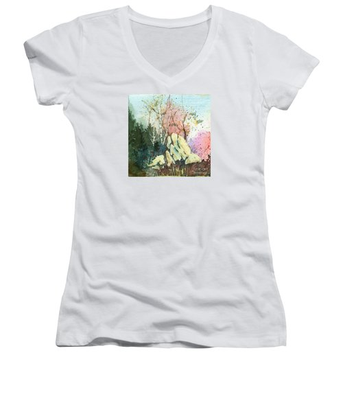 Triptych Panel 1 Women's V-Neck