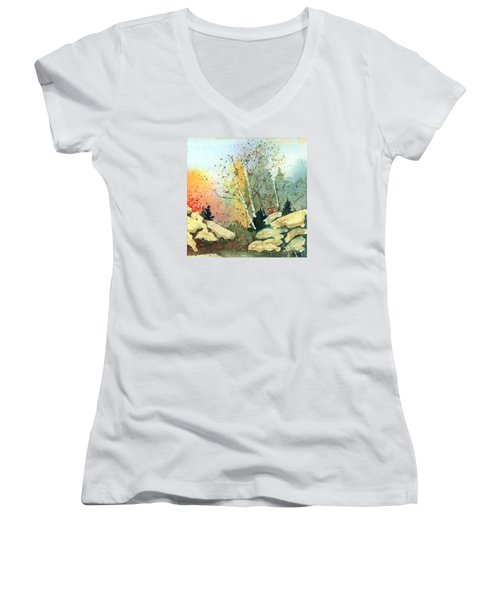 Triptych Panel 3 Women's V-Neck