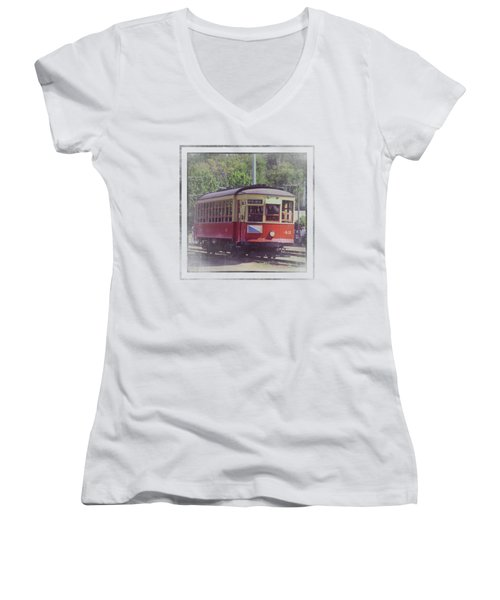 Trolley Car 42 Women's V-Neck (Athletic Fit)