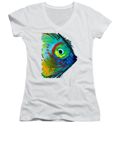Tropical Fish - Art By Sharon Cummings Women's V-Neck