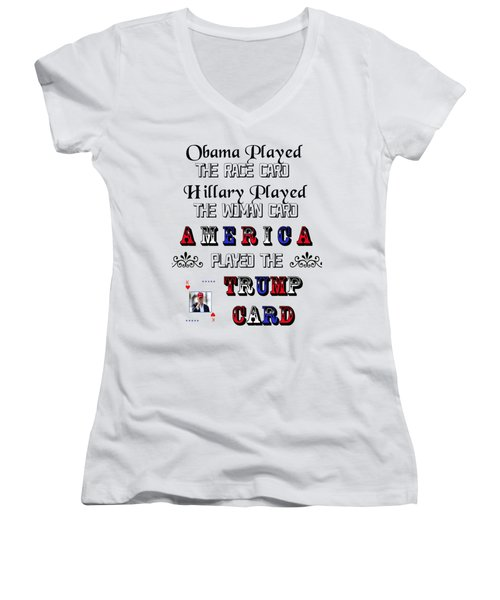 Trump Card Women's V-Neck (Athletic Fit)