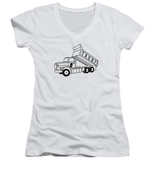 Trump Dump Truck Women's V-Neck