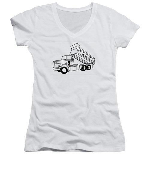 Trump Dump Truck Women's V-Neck (Athletic Fit)