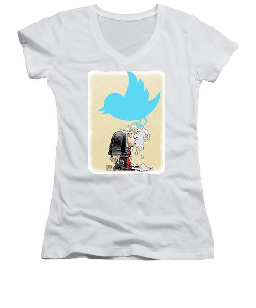 Trump Twitter Poop Women's V-Neck