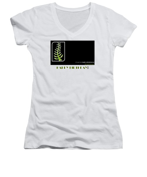 Trust In God Women's V-Neck (Athletic Fit)