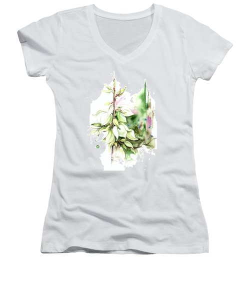 Trying On Wedding Dress Women's V-Neck T-Shirt