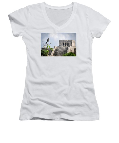 Tulum Mayan Ruins Women's V-Neck (Athletic Fit)