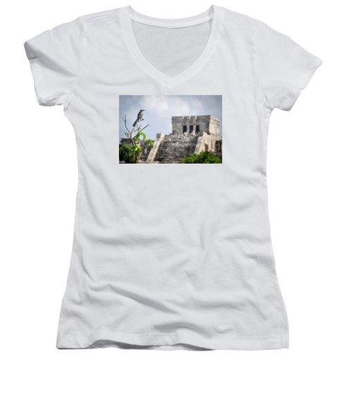 Tulum Mayan Ruins Women's V-Neck T-Shirt