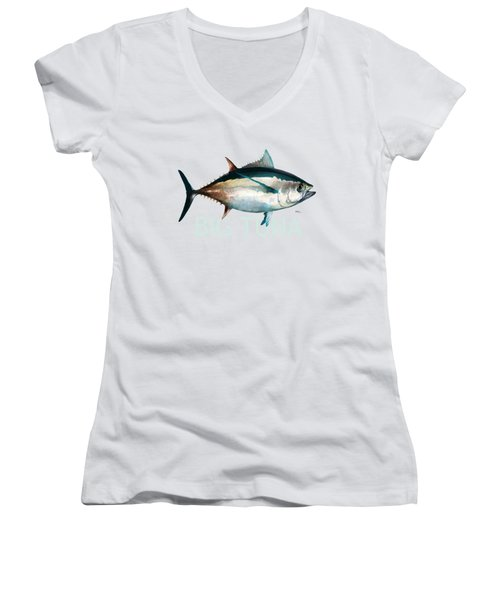 Tuna 001 Women's V-Neck (Athletic Fit)