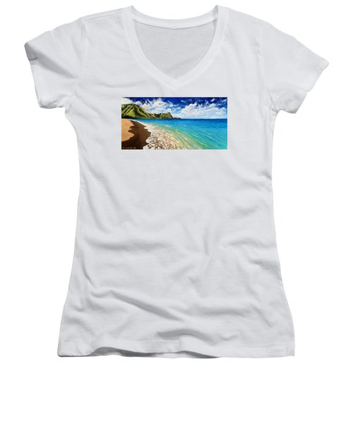 Tunnels Beach Women's V-Neck (Athletic Fit)