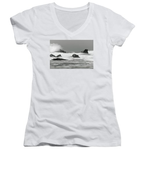 Turbulent Thoughts Women's V-Neck (Athletic Fit)