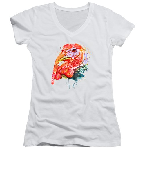 Turkey Head Women's V-Neck (Athletic Fit)