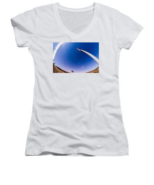 Turning Night Into Day Women's V-Neck (Athletic Fit)
