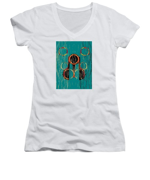 Turquoise Rings Women's V-Neck (Athletic Fit)