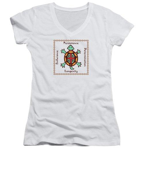 Turtle Animal Spirit Women's V-Neck T-Shirt
