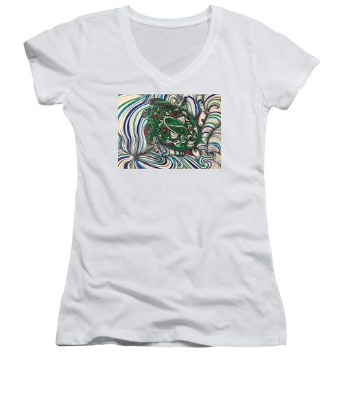 Turtle Time All Alone Women's V-Neck