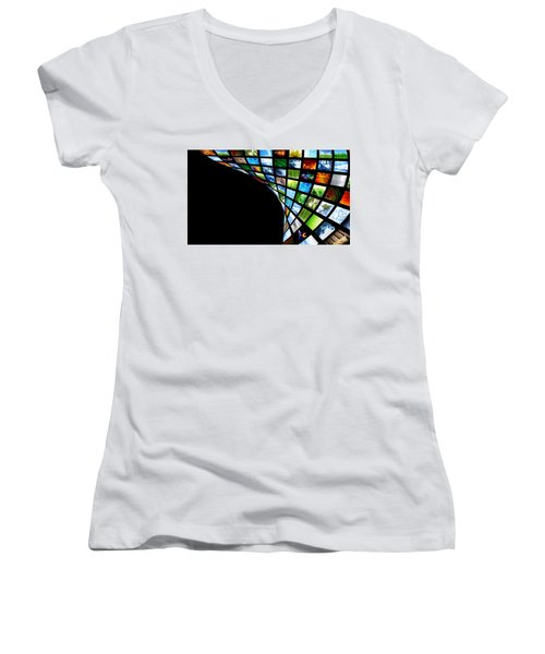 Tv Warp Wall Women's V-Neck
