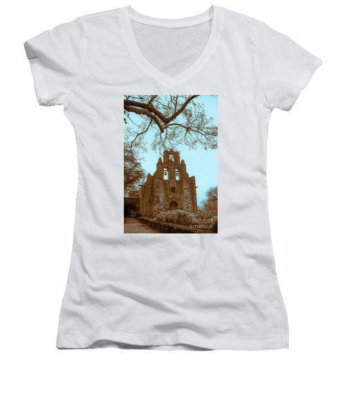 Twilight In The Mission Women's V-Neck T-Shirt