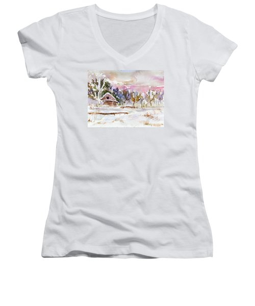 Twilight Serenade I Women's V-Neck (Athletic Fit)