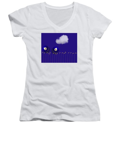 Blue Balls Women's V-Neck