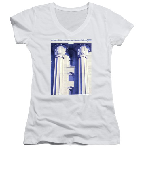 Two Columns Women's V-Neck T-Shirt