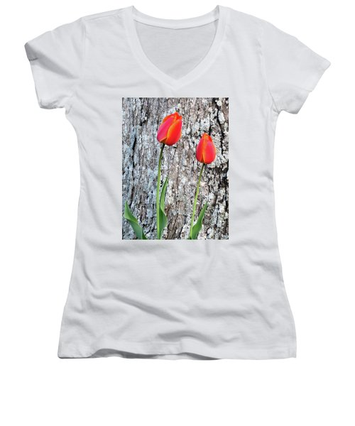 Two Women's V-Neck