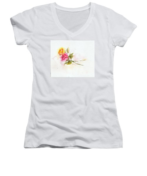 Two Roses Women's V-Neck