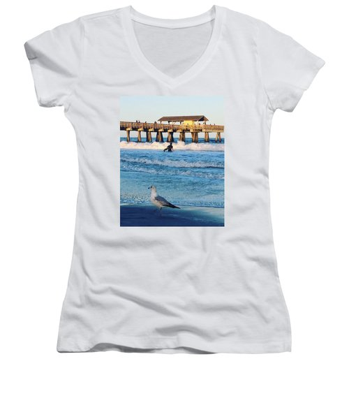 Tybee Island Women's V-Neck (Athletic Fit)