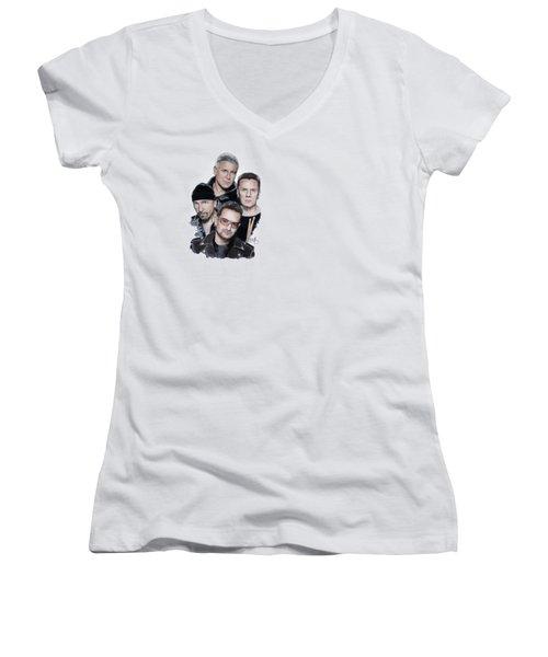 U2 Women's V-Neck T-Shirt