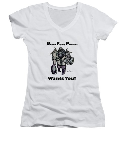 UFP Women's V-Neck T-Shirt (Junior Cut) by Riley Frank