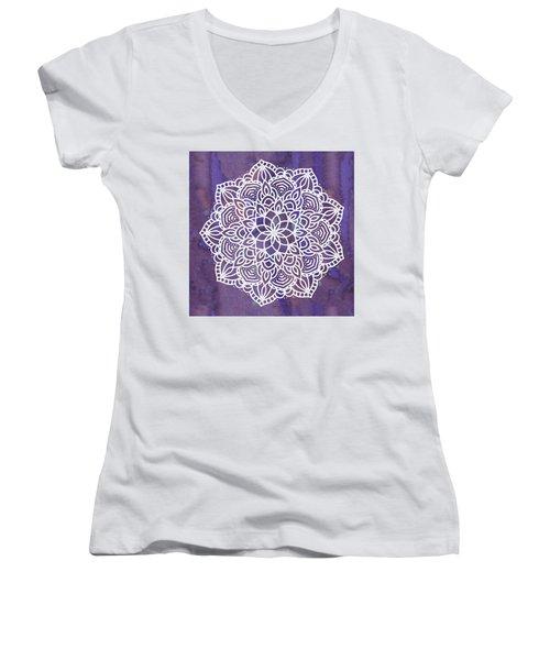 Ultraviolet Mandala Women's V-Neck