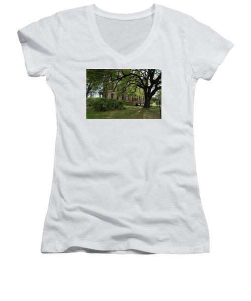 Under The Tree F5622a Women's V-Neck T-Shirt (Junior Cut) by Ricardo J Ruiz de Porras