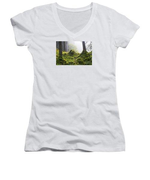 Underwood Women's V-Neck T-Shirt (Junior Cut) by Yuri Santin