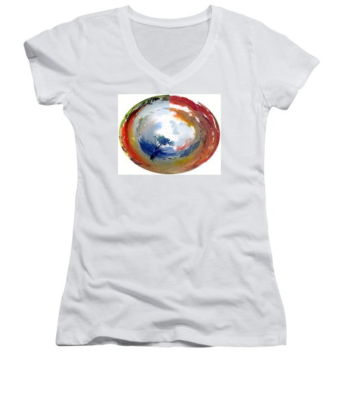 Universe Women's V-Neck T-Shirt (Junior Cut) by Anil Nene