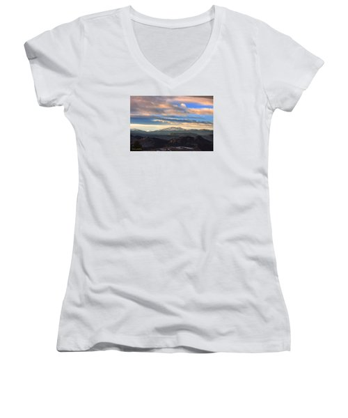 The Unmatched Beauty Of The Colorado Rockies Women's V-Neck